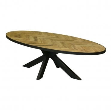 Parquet Oval Dining Table