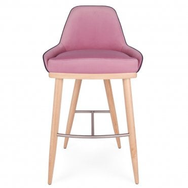 Glow Wooden Ring Bar Stool