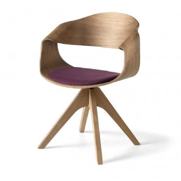 Chantal Armchair with Wooden Legs
