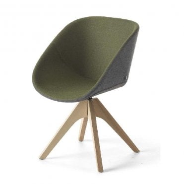 Hibiscus Chair Wooden Leg