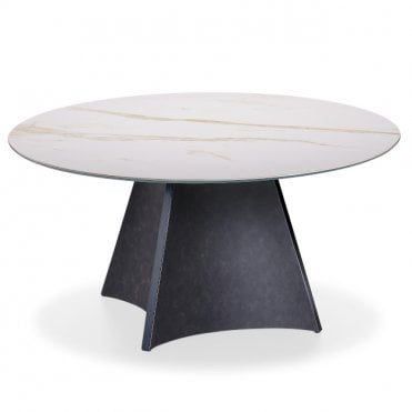 Concave Round Dining Table