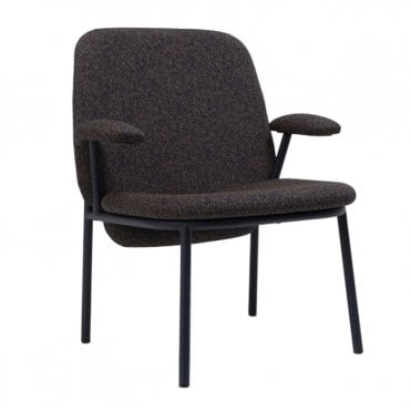 Lana Steel High Back Lounge Armchair