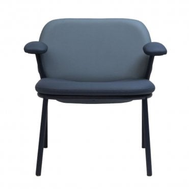 Lana Steel Low Back Lounge Armchair