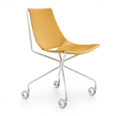 Apelle Side Chair With Wheels
