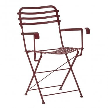 Bistro Metal Folding Armchair