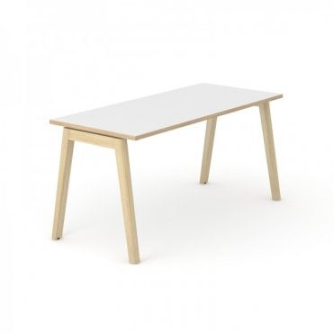 Versa Wood Bench Desk Single