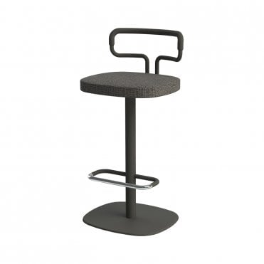 Loop Bar Stool With Backrest