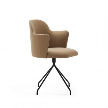 Aleta Metal Base Swivel Armchair