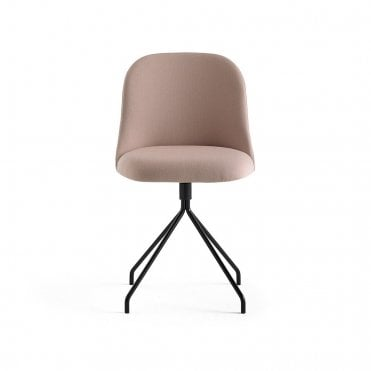 Aleta Metal Swivel Base Side Chair