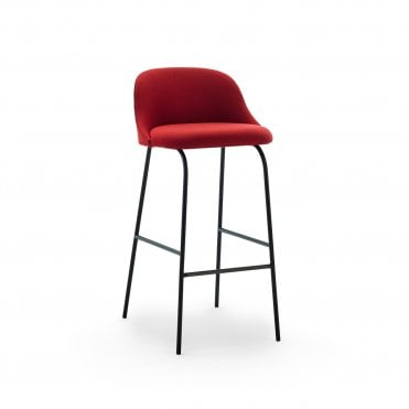 Aleta Metal Base Low Back Bar Stool