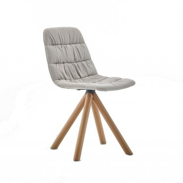 Maarten Smooth Timber Swivel Side Chair