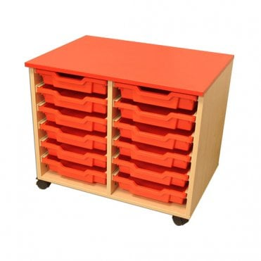 Two Column Tray Storage