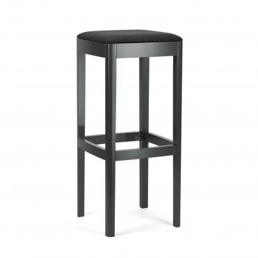 Prag Upholstered Backless Barstool