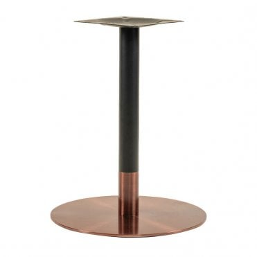 Zeus Rose Gold/Black Dining Table Base
