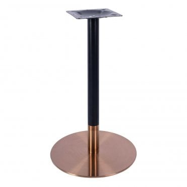Zeus Rose Gold/Black Poseur Table Base