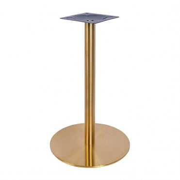 Zeus Brass Poseur Table Base