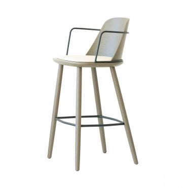 Nura Upholstered Barstool with Arms
