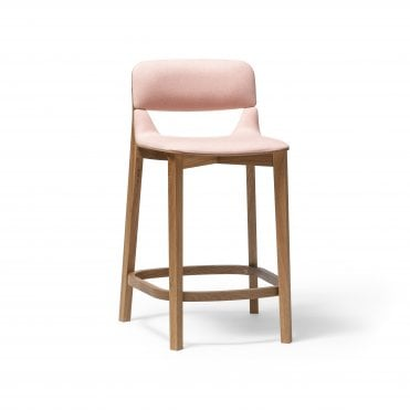 Leaf Barstool Upholstered
