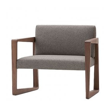 Askew Lounge Chair - Stained beech - COM