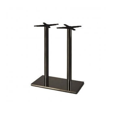 Hugo Oblong (RC) Twin C4 table base - Black