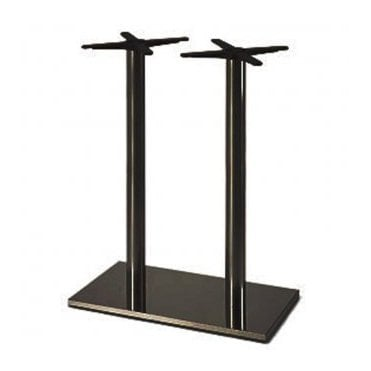Hugo Oblong (RC) Twin P2 table base - Black