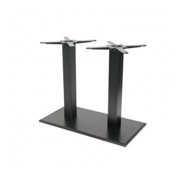 Hugo Oblong Twin C4 table base - Black