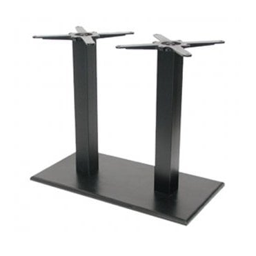 Hugo Oblong Twin D4 table base - Black