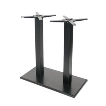 Hugo Oblong Twin P4 table base - Black