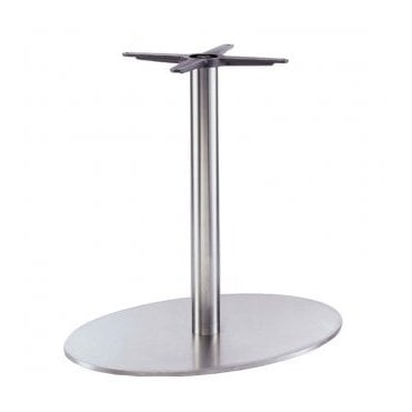 Hugo Oval D1 table base - Brushed S/S