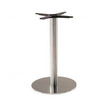 Hugo Round C2 table base - Brushed S/S