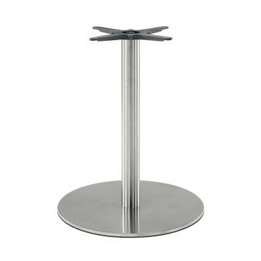 Hugo Round C3 table base - Brushed S/S