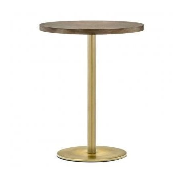 Hugo Round D1 Slim table base - Antique Brass