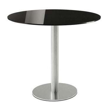 Hugo Round D2 table base - Brushed S/S