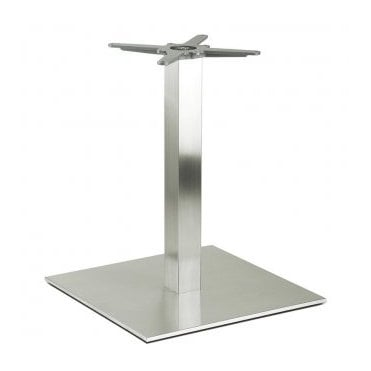 Hugo Square D2 table base - Brushed S/S