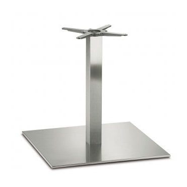 Hugo Square D5 table base - Brushed S/S