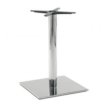 Hugo Square (RC) D2 table base - Brushed S/S