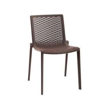 Katie Stacking Side Chair - Chocolate