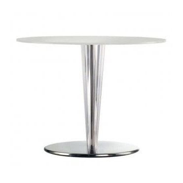 Krystal D4 table base -Polished Stainless Steel